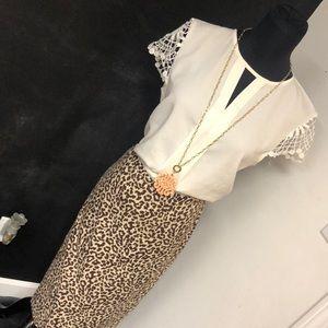 J crew Leopard Pencil Skirt